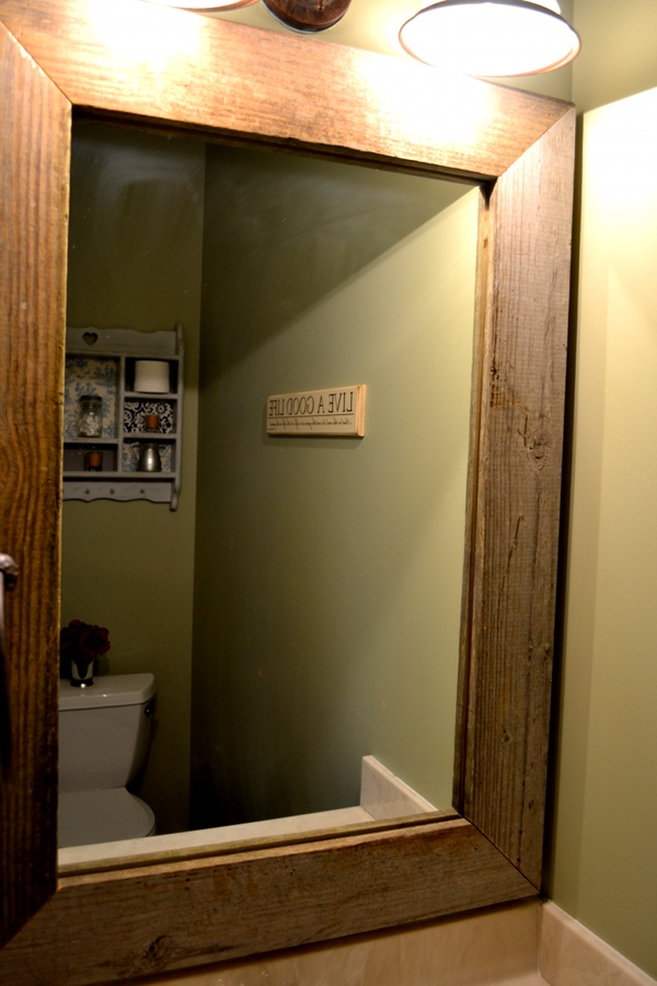 Frames for large bathroom mirrors how to make a diy for Bathroom mirror frames