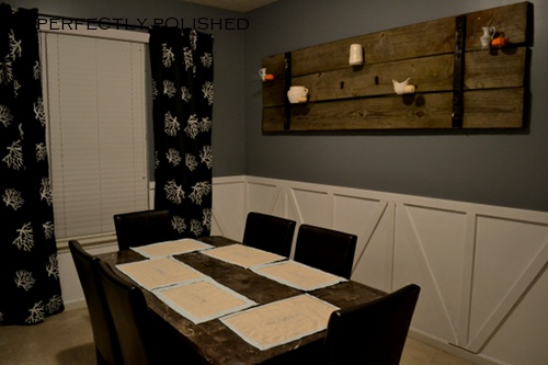 Barn style wainscoting for Wainscoting dining room ideas