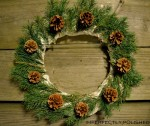 spruce and pine cone wreath