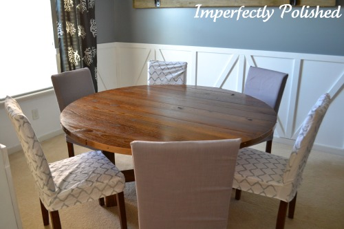48 Inch Round Table Seats How Many round wood table tutorial