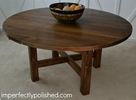 Round wood table tutorial for Circular wooden table