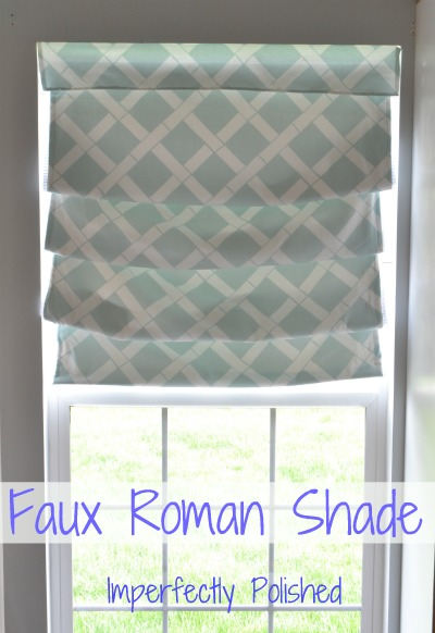 faux roman shade