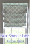 faux roman shade tutorial