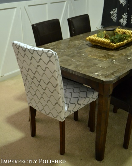 then i shared how to sew the parsons chair covers