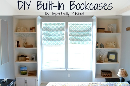 DIY BuiltIn Bookcase Tutorial - Diy built in shelves