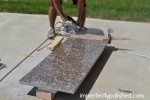 cutting sides of granite