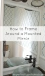 guest bath mirror frame tutorial