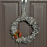 ruffled gingham wreath tutorial