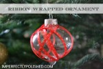 RIBBON WRAPPED ORNAMENT TUTORIAL