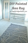 painted ikea rug tutorial