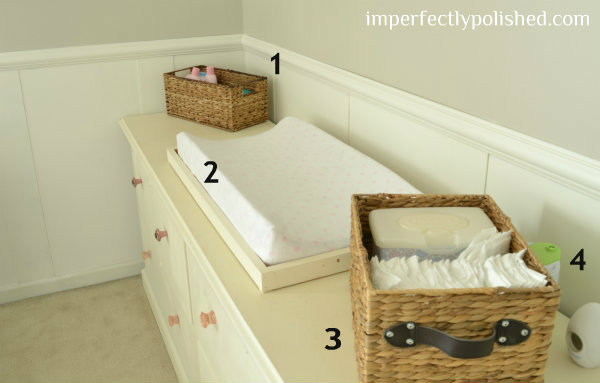 nursery changing table numbered