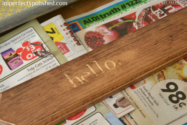 hello sign stained