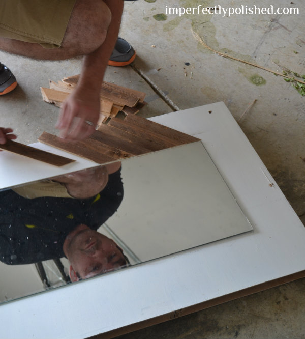mirror frame adding shims