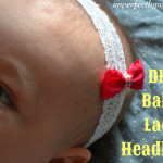 DIY baby lace headband tutorial