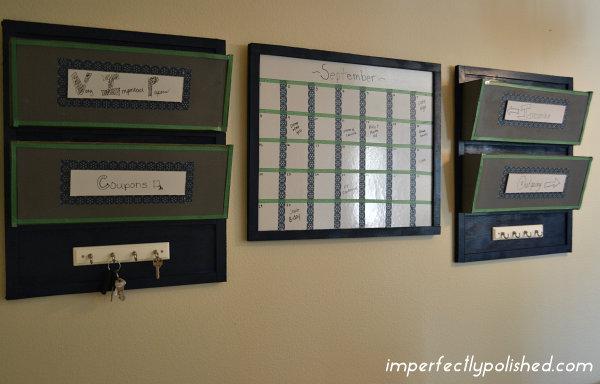 Diy wall organizer and washi tape dry erase calendar diy wall organizer solutioingenieria Choice Image
