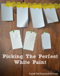 picking white paint