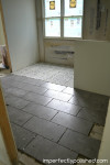 master bath floor tiled