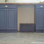 DIY Blue Laundry Cabinets 2