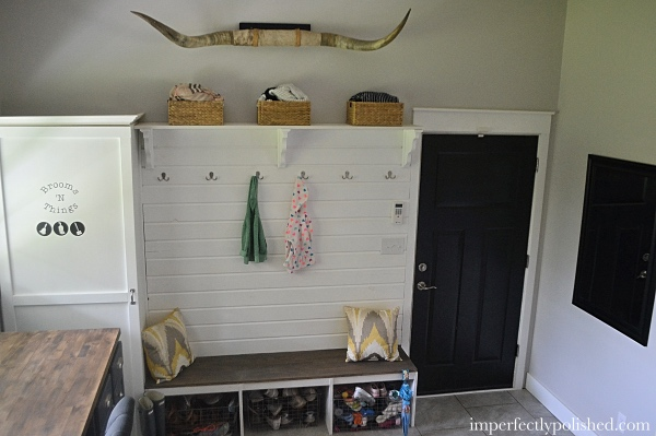 mudroom entry wall