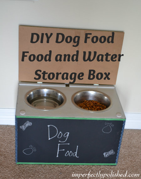 DIY Dog Food and Water Storage Box